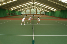 The indoor tennis centre at St George's College, which is used by both schools.