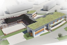 An artist's impression of the new build at St George's Junior School