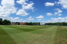 A panorama of the College playing fields