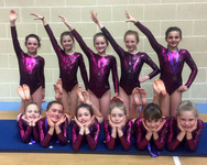 Junior School gymnasts vault, jump and twirl their way to success