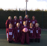 U11A team reach the semis at Surrey Schools' Netball Tournament
