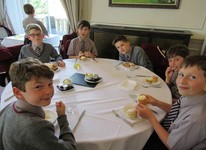 History Club enjoy a spot of afternoon tea at Oatlands Park Hotel