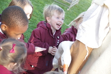 Nursery make some new friends at 'Living Nativity'
