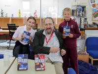Author Andrew Lane visits St George's College for book signing
