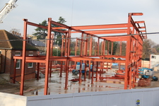 Steel frame installation at Junior School new build