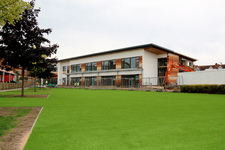 Junior School New Build update: artificial lawn is laid by 'THE ARK'