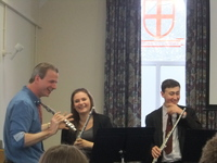 Woodwind Masterclass visited by world renowned flautist and composer