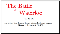 ​History Club finds out about the Battle of Waterloo