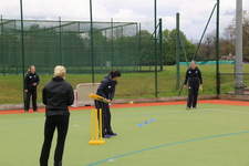 Coaching girls' cricket at St George's