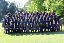 Upper Sixth on show for today's official photograph
