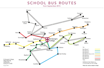 School Bus route map
